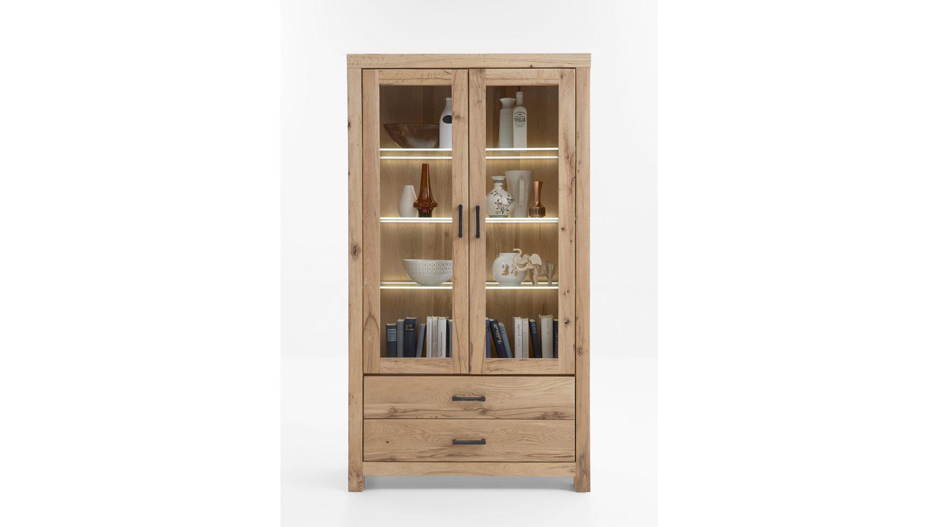 massivholzmobel wohnzimmerschrank, möbel bernskötter mülheim, woods & trends vitrine, Design ideen