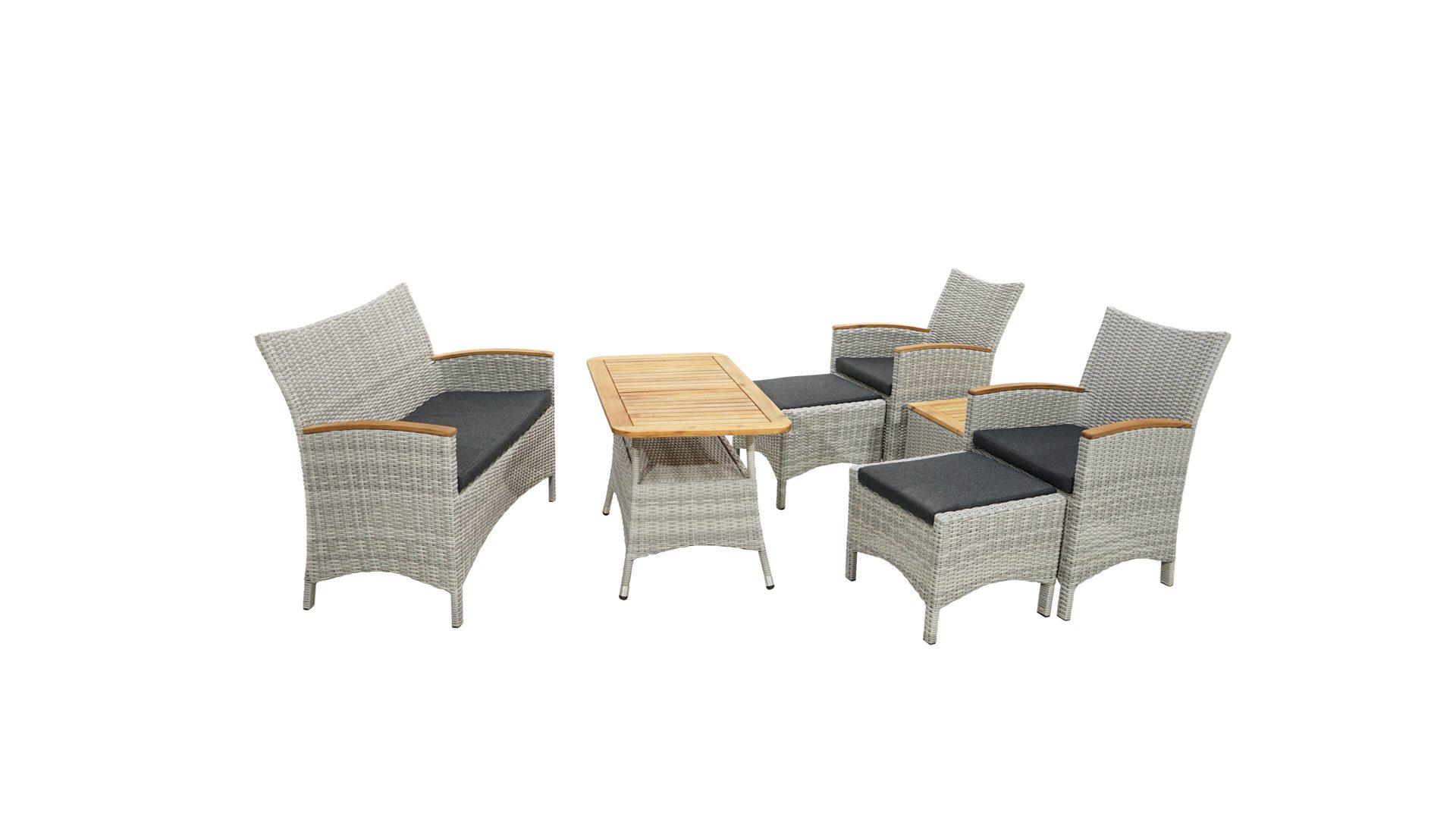 mobel bernskotter mulheim mobel a z tische beistelltische ploss ploss loungemobel set vigo grau naturfarbenes kunststoffgeflecht akazienholz