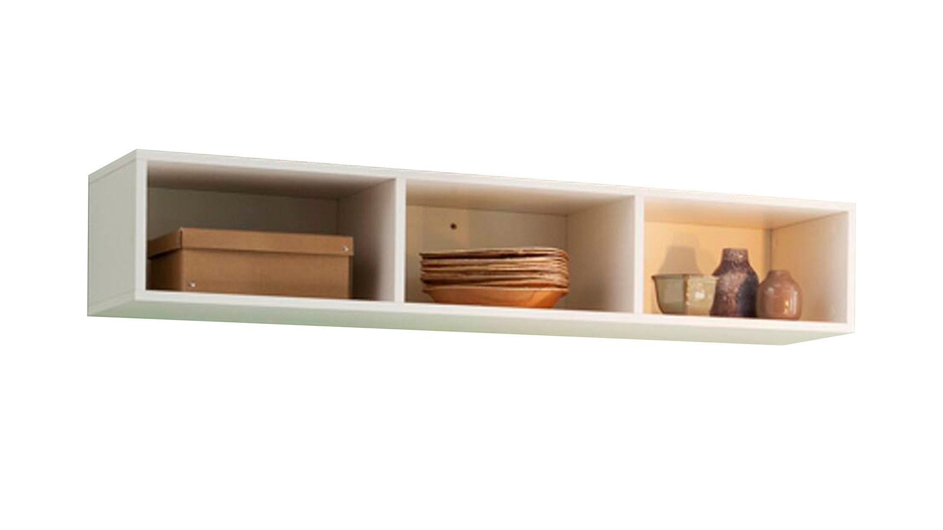 Möbel Bernskötter Mülheim, Räume, Wohnzimmer, Regale + Raumteiler,  Boxen Wandregal, Boxen Wandregal, Mattweiße Lackoberflächen U2013 Länge Ca. 120  Cm