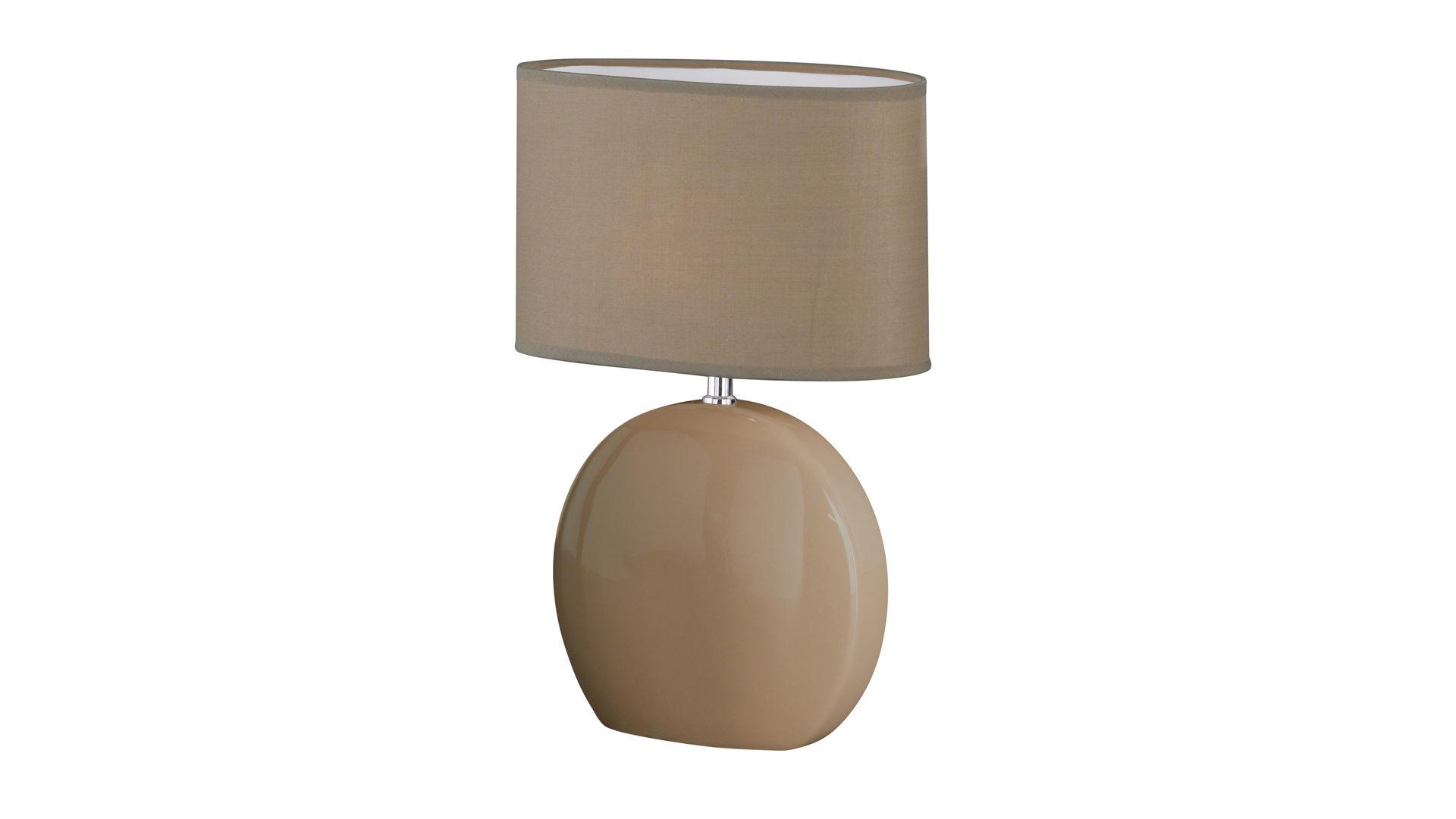 Möbel Bernskötter Mülheim, Räume, Schlafzimmer, Lampen + Leuchten,  Tischleuchte, Tischleuchte Lume Bzw. Nachttischlampe, Cappuccinofarbener  Stoffschirm ...