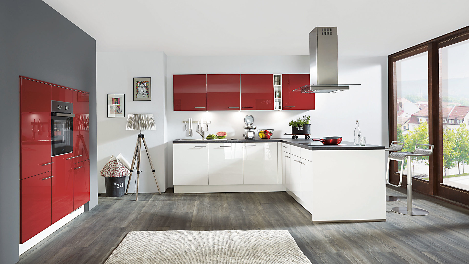 Fantastisch Küche Themen Rot Bilder - Küchenschrank Ideen ...